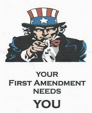 The first amendment shields us from censorship